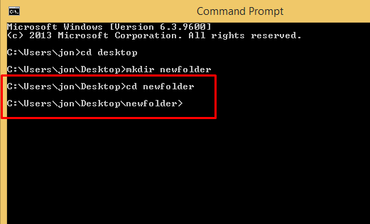 how to create folder by cmd